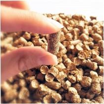Litière Cheval en Granulés de Paille sans germes, dépoussiérée et à haut pouvoir d'absorption.